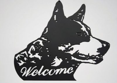 Welcome Sign Kelpie