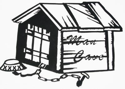 Man Cave Dog House