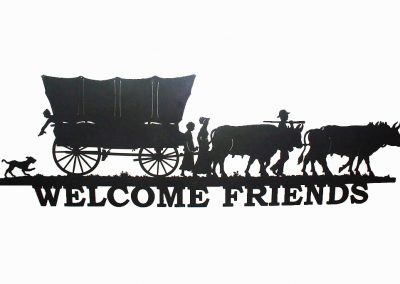 Welcome Friends Wagon